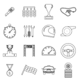 Race icons set outline style vector image