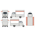 realistic food truck vector image vector image