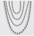 Realistic strands of white pearls decorative