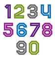 Retro colorful acute-angled geometric numeration vector image vector image