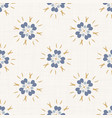 seamless daisy pattern in french blue linen shabby vector image vector image