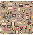 Seamless pattern of doodle colorful movie design vector image vector image