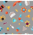 Seamless pattern with bowling items Background vector image vector image