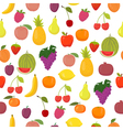 seamless pattern with fruits Healthy food vector image