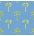seamless pattern with palm on blue vector image vector image
