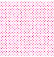 seamless pink heart background pattern vector image vector image