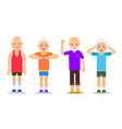 set of active older people old men and women in vector image vector image