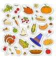 Set of Cute Thanksgiving icons vector image vector image