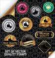 set of quality stamp vector image vector image