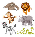 set wild animal vector image