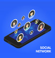 social network and technology concept global vector image