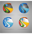sphere colorful vector image vector image