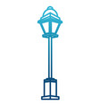street light lamp vector image vector image