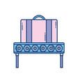 suitcase conveyor belt travel aviation transport vector image