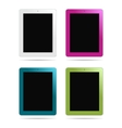 tablet pc different colors vector image
