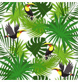 tropical toucan pattern cartoon style vector image vector image