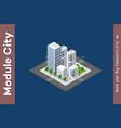 urban isometric skyscraper vector image vector image