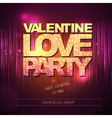 Valentine love party background vector image vector image