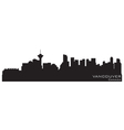 vancouver canada skyline detailed silhouette vector image vector image