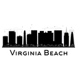 virginia beach city skyline black and white
