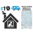 Workshop Building Icon with 1000 Medical Business vector image