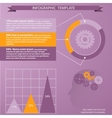 Tempate for infographic vector image