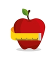 apple measuring nutrition sport vector image