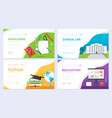 back to school information brochure card set vector image vector image