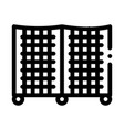 batting cage icon outline vector image vector image