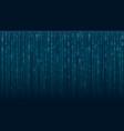 binary matrix code on screen vector image vector image
