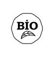 bio icon vector image