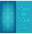 blue lace save date vector image