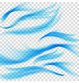 blue waves on transparent background eps 10 vector image vector image