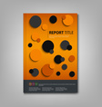 Brochures book or flyer with abstract circles vector image