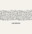 car service banner concept vector image