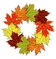 cartoon autumn leaf wreath vector image