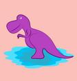 cartoon dinosaur character vector image