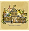 Cartoon fairy-tale castle vector image