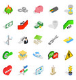 checkbox icons set isometric style vector image