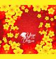 chinese new year template background year of the vector image vector image