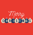 christmas card retro style new year banner vector image vector image