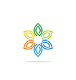 colorful flower decoration leaf logo vector image vector image