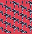 dala scandinavian style horse seamless vector image vector image