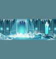 dead castle frozen throne room cartoon vector image vector image