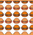delicious hamburger fast food background icon vector image vector image