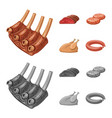 design of meat and ham icon set of meat vector image vector image