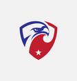 eagle shield icon design vector image vector image