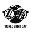 earth sight day concept background simple style vector image