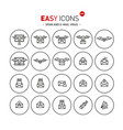 easy icons 46b computer crime vector image vector image