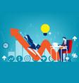 entrepreneur startup concept buisness vector image vector image